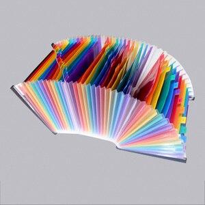 Расширяющаяся папка для файлов с 24/37 карманами А4 Органайзеры для файлов с гармошкой разноцветные портативные пластиковые бумажники папки ...
