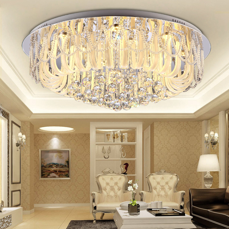 Modern round crystal ceiling lamp LED living room lamp bedroom dining room lighting factory pendant lamp modern crystal lamp round shape led pendant light for bedroom living room lighting