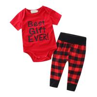 2pcs Suit Baby Boys Girl Clothing Sets Kid Baby Boys Girls Romper + Pants Set Clothes Outfit