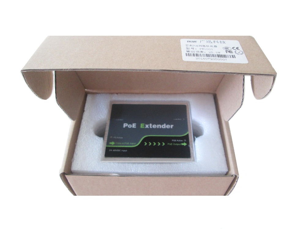 Free shipping 10/100/1000Mbps POE extender Compliant with IEEE802.3af/at PE101G