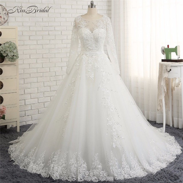 Vestido casamento zivilen 2018 Modest Long Sleeve High Neck ...