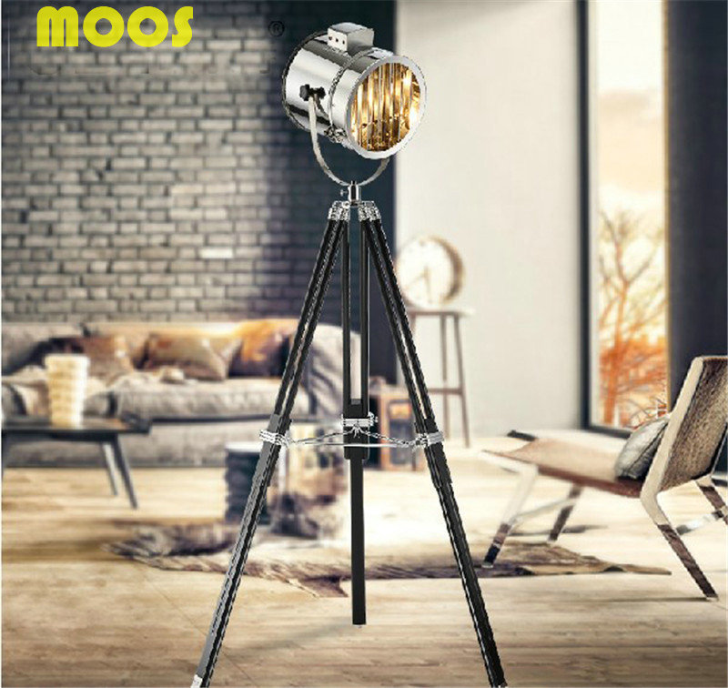 buy american spotlight tripod floor lamp for living room abajur photography light projector standing lamp searchlight fixture from reliable - Spotlight Floor Lamp
