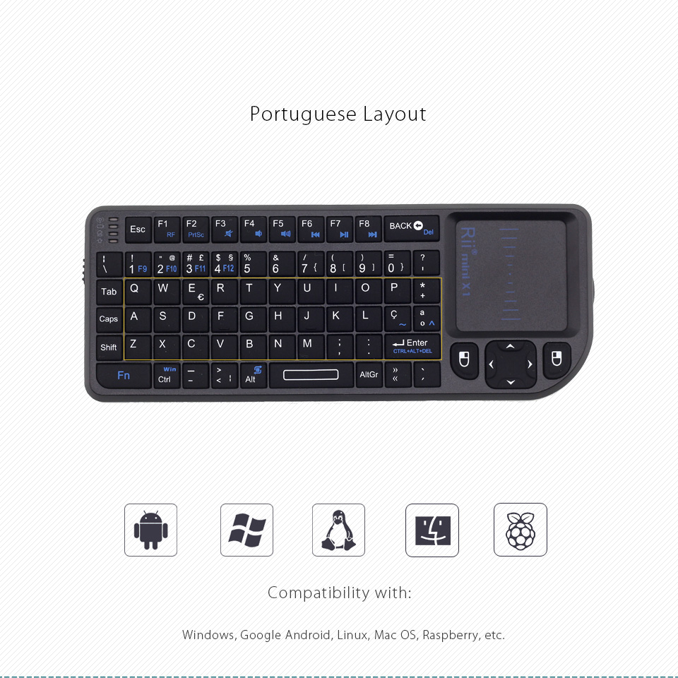 sem fio com mouse touchpad para android