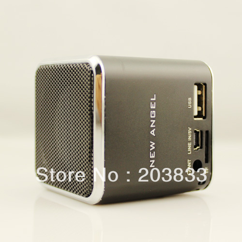New Music Portable Mini USB Micro SD/TF Mp3 Player with screen computer speaker + Free shipping
