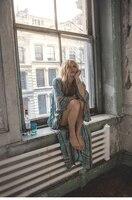 2017 Donne di Estate Stampa Floreale Lungo Kimono Stile Vestito Delle Signore Profondo Scollo A V Del Manicotto Del Batwing Allentato Boho Abiti D'epoca