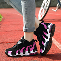 2016 New women fashion casual shoes lace up platform breathable couple shoes women air cushion walking shoes BT431