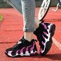 2016 Nuevas mujeres de la manera ocasional atan para arriba los zapatos de plataforma transpirable zapatos de los pares mujeres del amortiguador de aire zapatos para caminar BT431