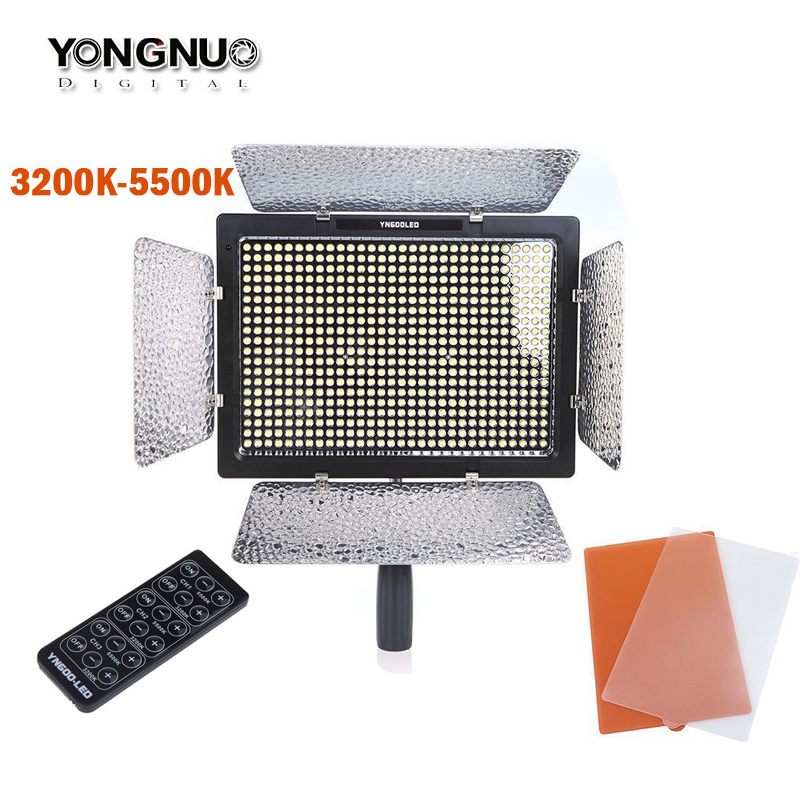 YONGNUO YN600 YN600L LED Video Light 3200k-5500k Color Temperature Adjustable 600 LEDs For Canon Nikon Camera Camcorder godox led 308y 308 leds professional led video 3300k light with remote control for canon nikon camera dv camcorder