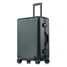 "20"" 24"" 26"" 29"" Aluminum Frame Travel Trolley Luggage Spinner Carry On Cabin Rolling Hardside Luggage Suitcase(China)"