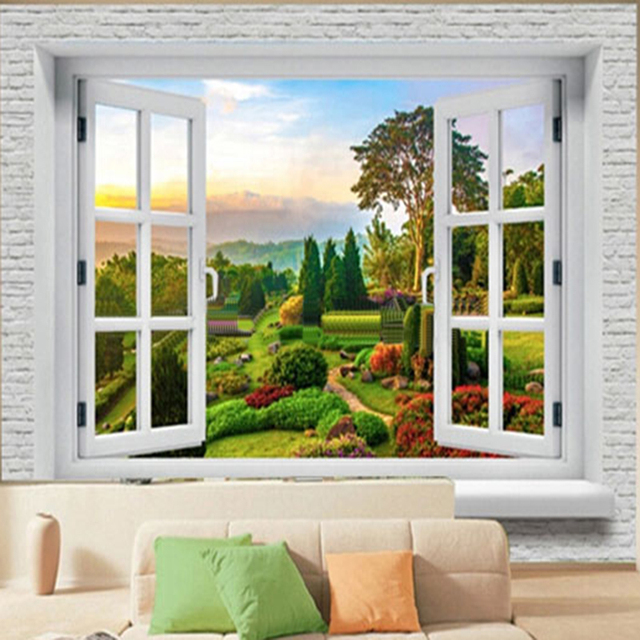 Custom D Wall Murals Wallpaper Landscape Photo Wall Paper Natural Murals Scenic Living Room Sofa Backdrop