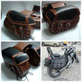 2015 NEW Studded Motorcycle Saddle Bags Leather Motorcycle/Motorbike Saddle Bag Tool