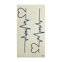 Waterproof Skin Tattoo Stickers Electrocardiogram Shape Temporary Tattoo Sex Products Tags For Body 10x6cm