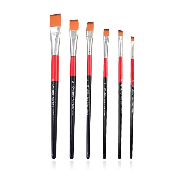 Aliexpress.com : Buy 6 pcs Nail Art Uv Gel Flat Brush Kit No.2/4/6/8 ...