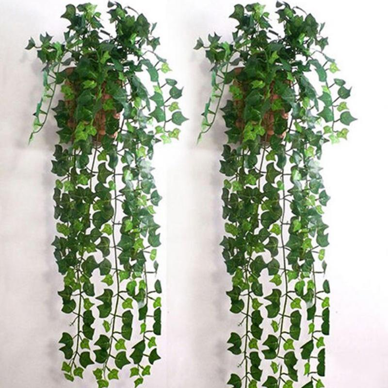 2.5m/98in Artifical Decoration Vine Delicate Artificial Ivy Leaf Garland Plant Vine Fake Foliage Wedding Parties Decor Supplies
