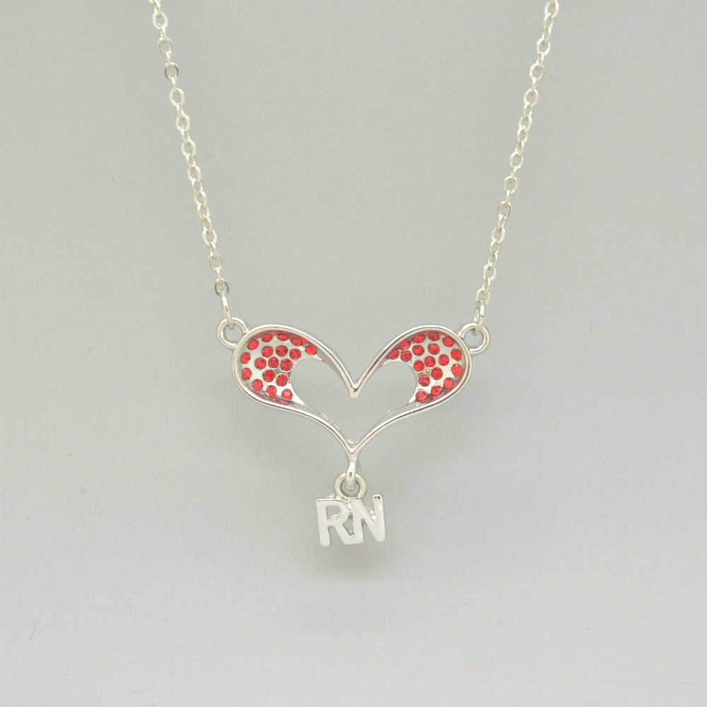 Free shipping czech crystals heart with letters rn pendant free shipping czech crystals heart with letters rn pendant necklace for registered nurse rn in pendants from jewelry accessories on aliexpress altavistaventures Gallery