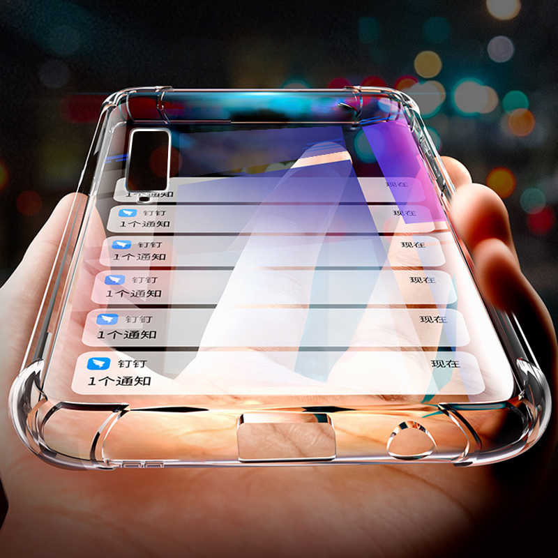 Shockproof Phone Case For Samsung Galaxy A6 A8 Plus A7 A9 2018 Air Bag Soft TPU Clear Case For Samsung S8 S9 10 Plus S10 Lite