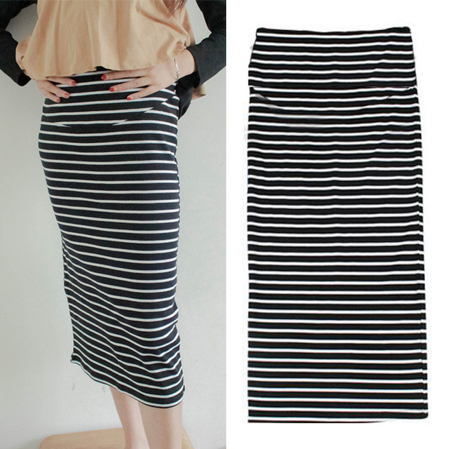 Cotton Maternity Belly Skirt Maternity Striped Skirts Shorts Skirts Maternity Adjustable Skirt Summer Clothes For Pregnant Women