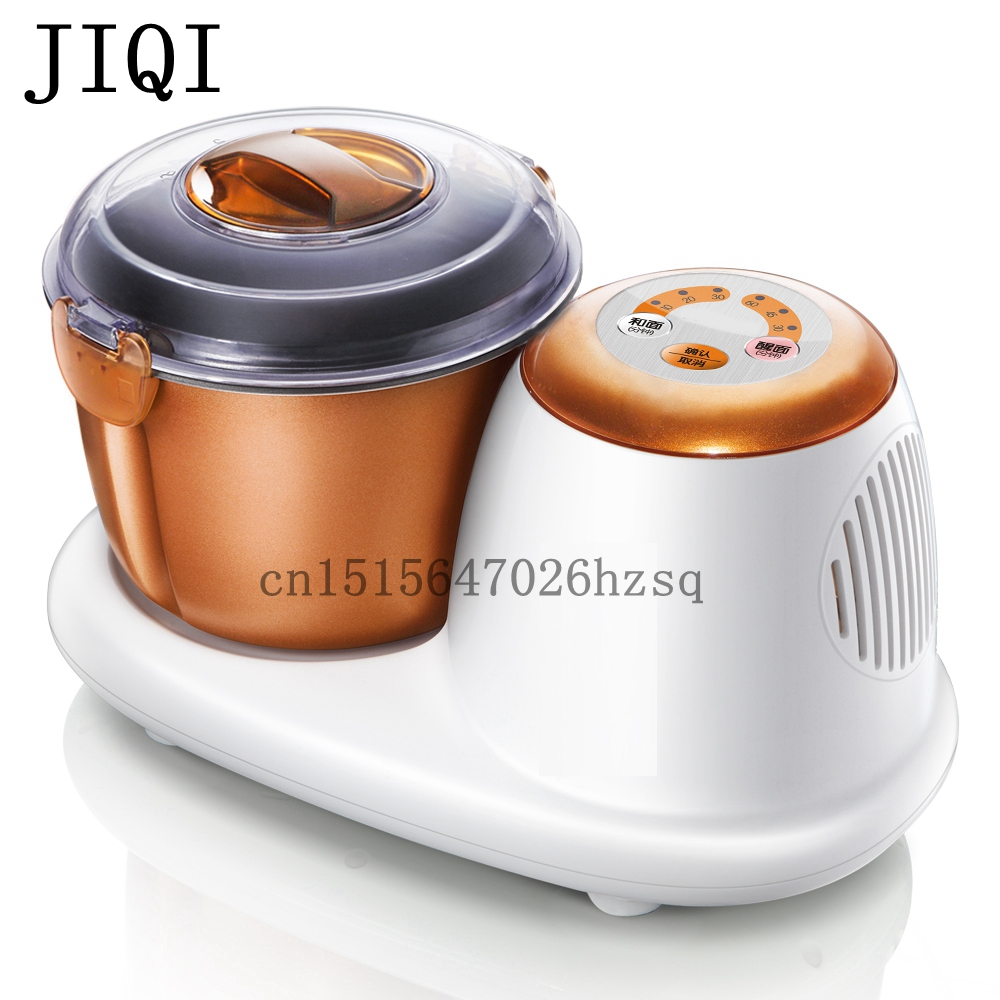 JIQI electric flour-mixing machine kitchen helper food mixer machine 3L capacity for home fast food leisure fast food equipment stainless steel gas fryer 3l spanish churro maker machine