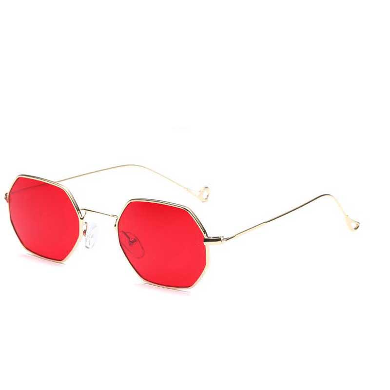 ZUCZUG Polygon solglasögon Hexagonal kvinnor män vintage luxury Brand Designer lins solglasögon sexkantig metall ram Glasögon oculos