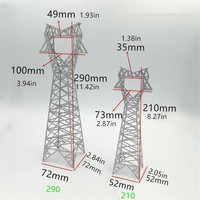 Diy electric train scene sand table tower model high voltage transmission tower model finished product cat head tower