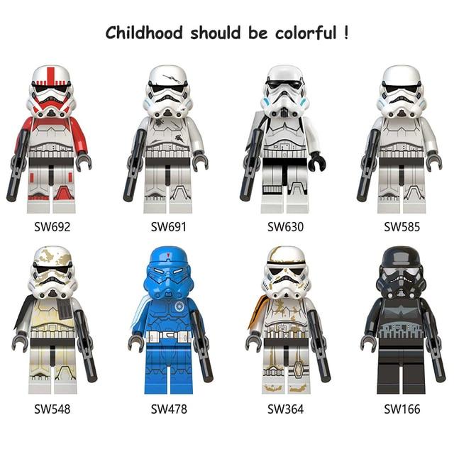 Star Wars The Force Desperta Clone Storm trooper Piloto Comandante Fox Rex Blocos de Construção Figura Bricks Toy presente Compatível Legoed