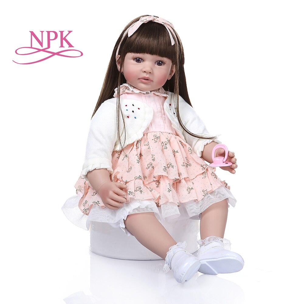 60cm grande taille Reborn bambin poupée jouet réaliste vinyle princesse bébé avec tissu doux corps vivant Bebe fille cadeau d'anniversaire-in Poupées from Jeux et loisirs    1