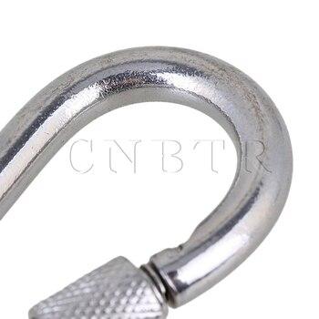 крюк с винтом | CNBTR M7x70 серебро 304 нержавеющая сталь звено цепи карабинный замок кольцо крюк с винтовым замком Упаковка из 20