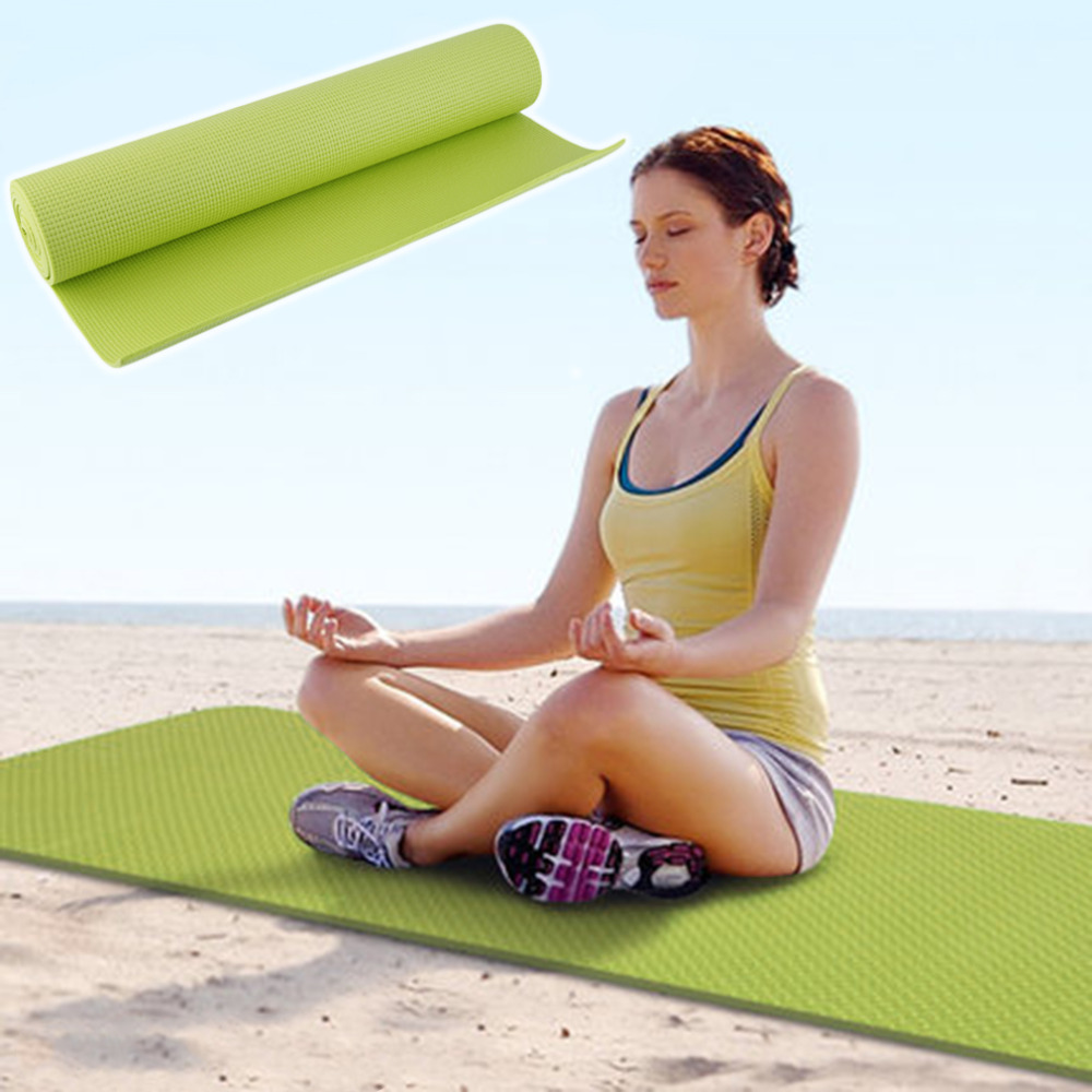 New Arrival Fitness PVC Non-slip Thick Yoga Mat Pad for Exercise Pilates Gym Leisure Mat