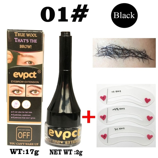 Eyebrow Enhancers Fiber Natural Hair Gel Makeup Eye Brow Extension Tinted Black Brown Long Lasting Tattoo Eyebrows Women 1