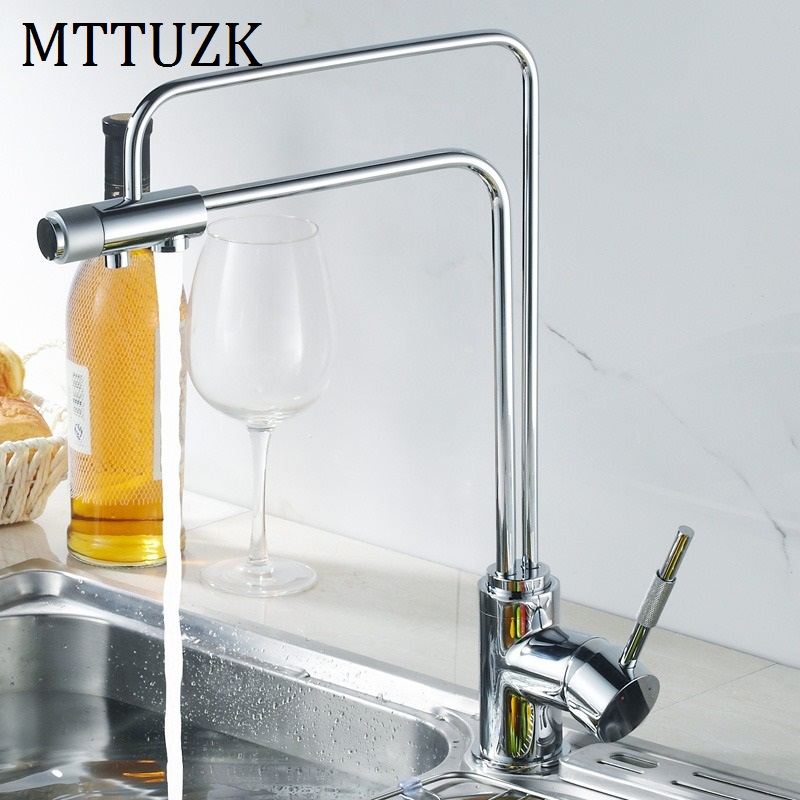 Free shipping 3 Way Kitchen mixer tap mixer kitchen drinking water faucet Basin faucet 1pcs lot