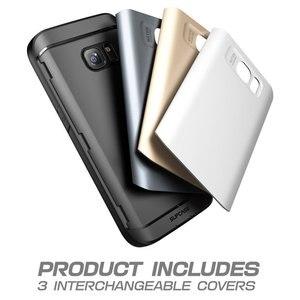 Image 4 - Für Samsung Galaxy S7 Fall SUPCASE Wasserdicht Voll Körper Robuste Fall mit Integrierten Bildschirm Protector + 3 Austauschbar abdeckungen