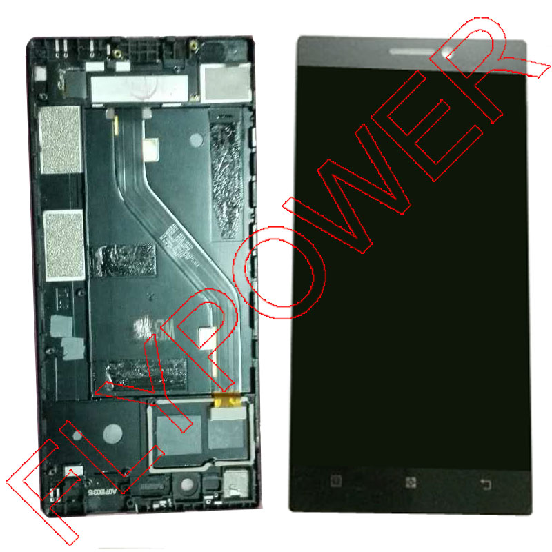 For Lenovo Vibe X2 Pro X2PT5 Display LCD Screen with Touch Screen Digitizer with Frame Assembly black color free shipping vibe x2 lcd display touch screen panel with frame digitizer accessories for lenovo vibe x2 smartphone white free shipping track