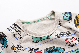 Image 5 - SAILEROAD 2 adet Kazak Çocuklar için Karikatür Araç Araba Sıcak Kazak Çocuklar için Uzun Kollu T Shirt Sonbahar Erkek Giysileri 4Yr