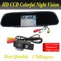 Câmera de Visão Traseira do carro HD 4.3 polegada Espelho Retrovisor Do Carro Monitor da câmera de estacionamento Para Citroen C4/C5/Para NISSAN QASHQAI X-TRAIL