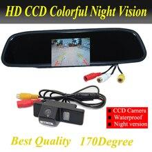 Cámara de Visión Trasera HD 4.3 pulgadas aparcamiento Espejo Retrovisor Del Coche Monitor de la cámara Para Citroen C4/C5/Para NISSAN QASHQAI X-TRAIL
