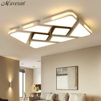 Современный белый/черный поверхностный монтаж потолочные светильники для спальни Гостиная Современная светодио дный лампа затемнения осв