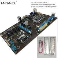 Lapsaipc h81 Motherboard miner RX470 RX480 RX570 RX580 Tested support 6 graphics card instead TB85 TB250 motherboard H81