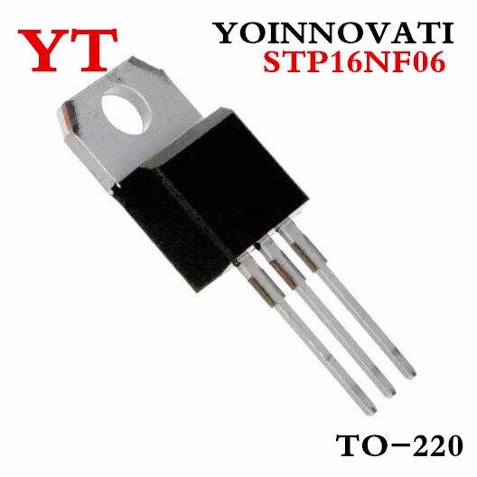 Free shipping 50PCS/LOT STP16NF06L P16NF06L MOSFET N-CH 60V 16A TO-220  Best quality