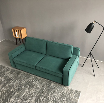 Nordic латекс вниз диван кровать небольшой квартире push pull промышленного ветер полный моющиеся гостиная простой многофункциональный диван