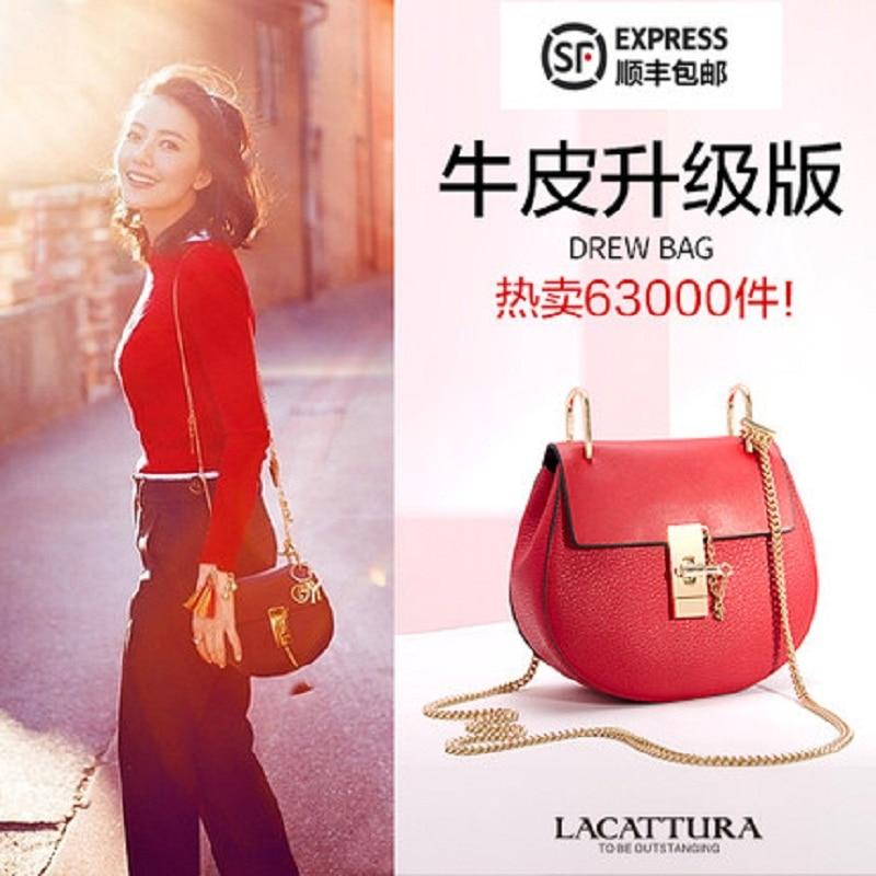 A1301 2017 nueva moda de marcas famosas mujeres de cuero bolsos de mensajero de