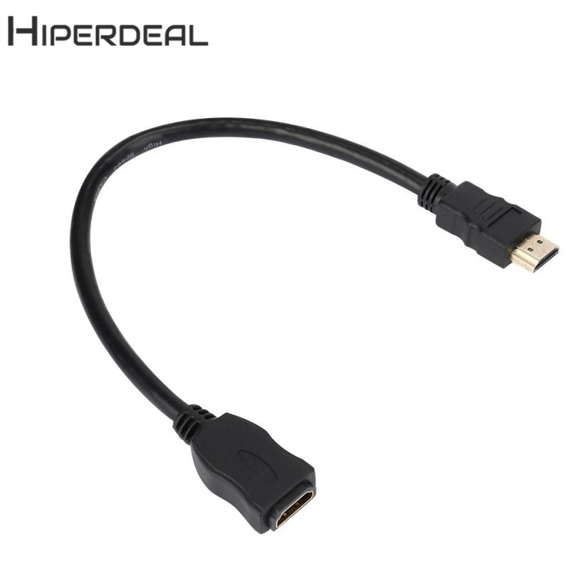 HIPERDEAL New 30cm HDMI Male To Female HDMI Extension Cable v1.4 3D High Speed With Ethernet 18Feb05 Drop Ship