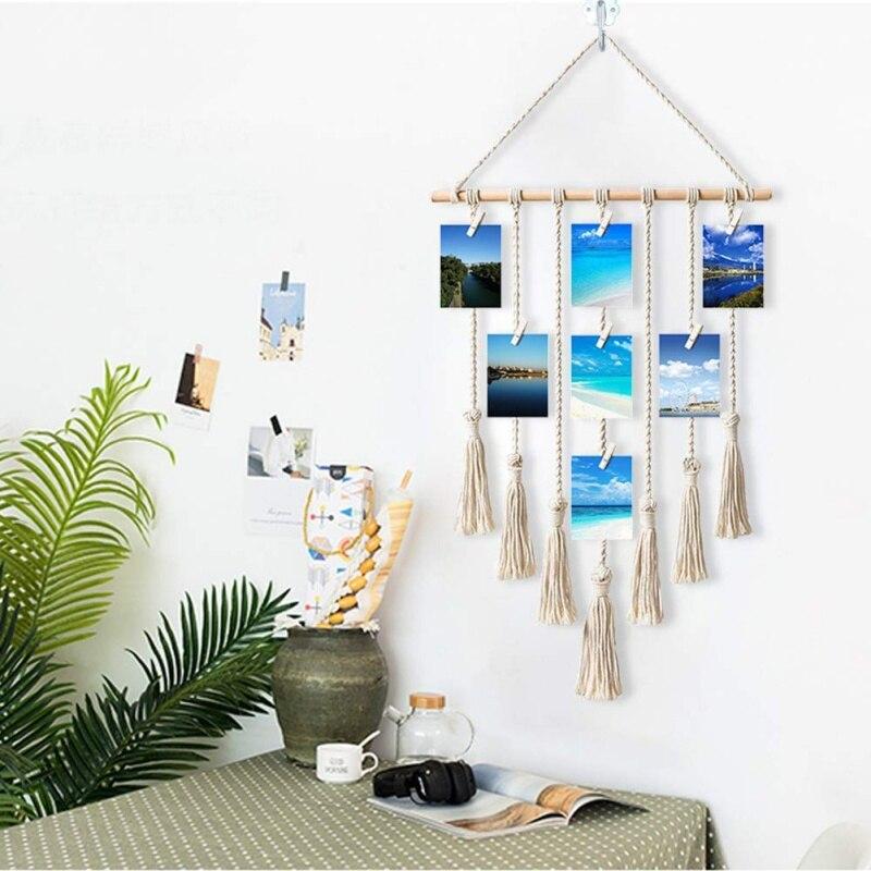 Handmade Tapestry Macrame Wedding Hanging Backdrop Wall Art Yarn Hanging Large Wall Hanging Tapestry Bohemian Macrame