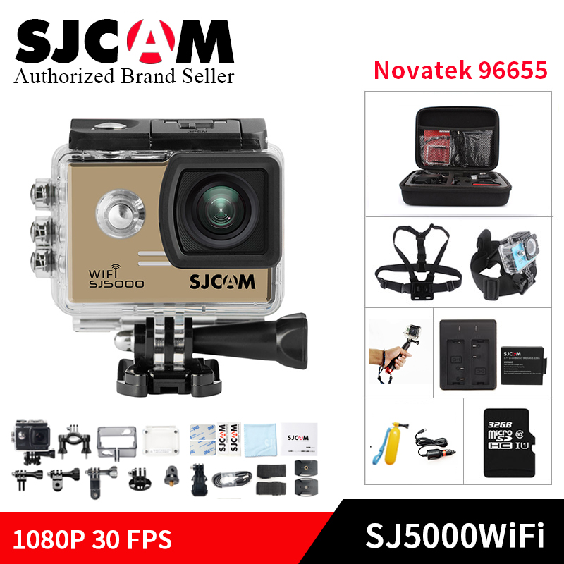 Original SJCAM SJ5000 WiFi Action extreme Camera 1080P Full HD helmet cam 2.0 inch Diving 30M Waterproof Action Video Camcorders 2017 newest real wifi video camera r360 camera 30m waterproof full hd 1080p action camera for android