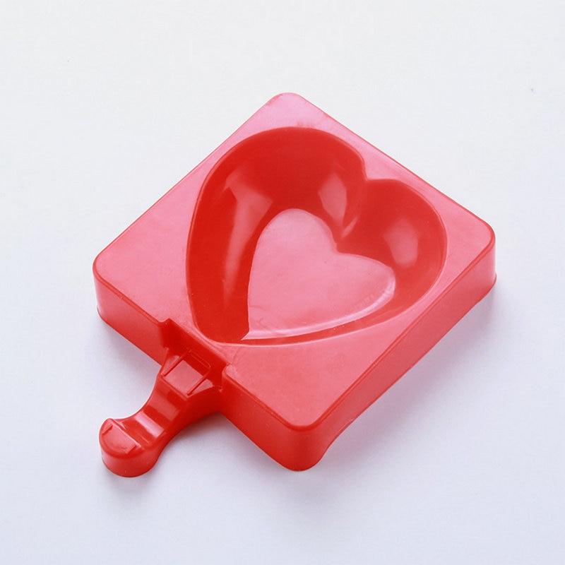 Amw Hartvormige Ijs Schimmel Siliconen Ijs Schimmel Met 20 Stks Houten Ijsstokjes Candy Bar Decoratie Keuken Gereedschap