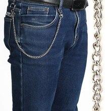 38 cm 15 pulgadas de largo de Metal cartera cinturón cadena Punk Rock  pantalones Hipster pantalón Jean llavero anillo de plata C.. 8b92e9e729e5