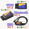 USB Bluetooth WIFI ELM327 OBD2 / OBDII ELM 327 V1.5 / V2.1 for Android IOS Auto Diagnostic Scanner Tool