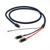 Бесплатная доставка Выборг One Piece Tonearm Cable 5 Булавки DIN RCA Phono кабель с 5N OFC с серебряным пластины проводника