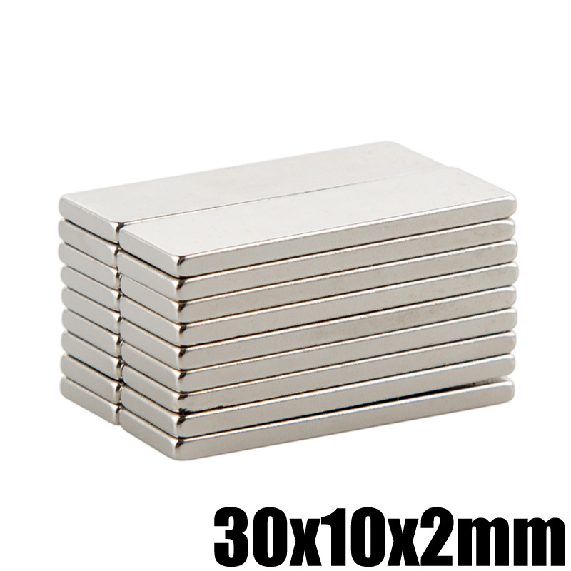 01339428a8d3 10Pcs 30x10x2mm Neodymium Magnet Block N35 Permanent Super Strong Powerful  Small Magnetic Magnets Square