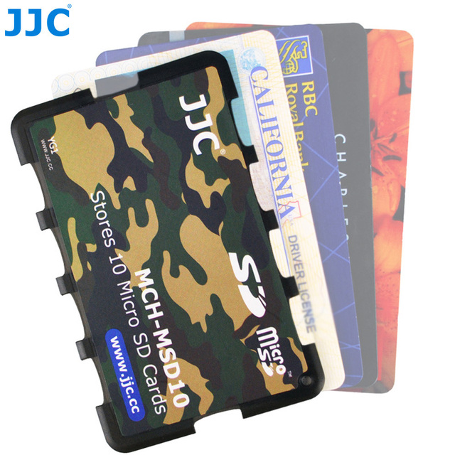 JJC Memory Card Case Holders Handle Storage Box Memory Card Wallet Credit Card Size for SD SDHC SDXC Micro SD MSD TF Cards