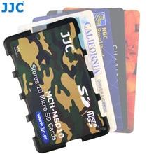 JJC hafıza kartı muhafazası tutucular kolu saklama kutusu hafıza kartı cüzdan kredi kartı boyutu SD SDHC SDXC Micro SD MSD TF kartları